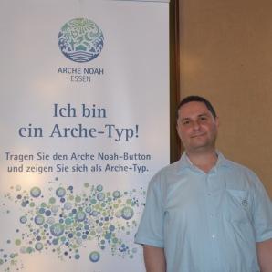 """Serdar Ablak, Ruhrdialog e. V.: """"Ich bin ein Arche-Typ, weil ich glaube, dass die Arche Noah viele Menschen unterschiedlichen Glaubens verbindet!"""""""